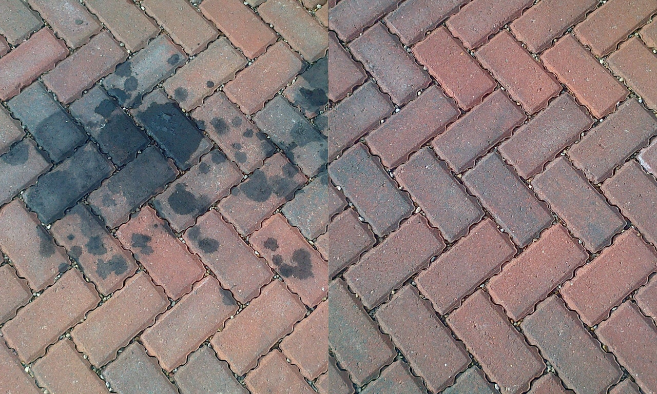 Driveway Oil Stain Removal in Essex from Power Jet in Colchester